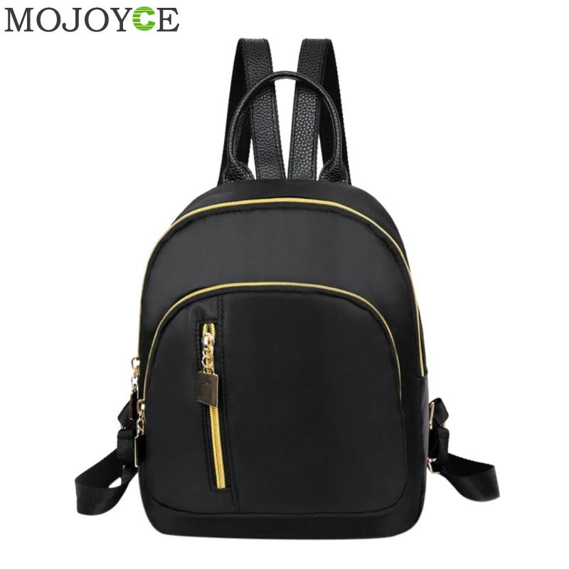 Nylon Backpack Women Black Travel Mini Shoulder Bag School Bags For Teenage Girls Backpacks Sac A Dos Femme