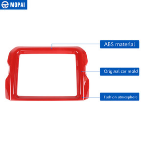 Image 2 - MOPAI 8.4 Inches Car GPS Navigation Decoration Frame Cover Stickers for Jeep Wrangler JL 2018+ for Jeep Gladiator JT 2018+