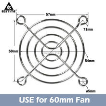 3 Pieces Gdstime 6cm 60mm Fan Guard PC CPU Latop Computer Cooling Fan Metal Iron Grill Cover 6010/6015/6020/6028 цены