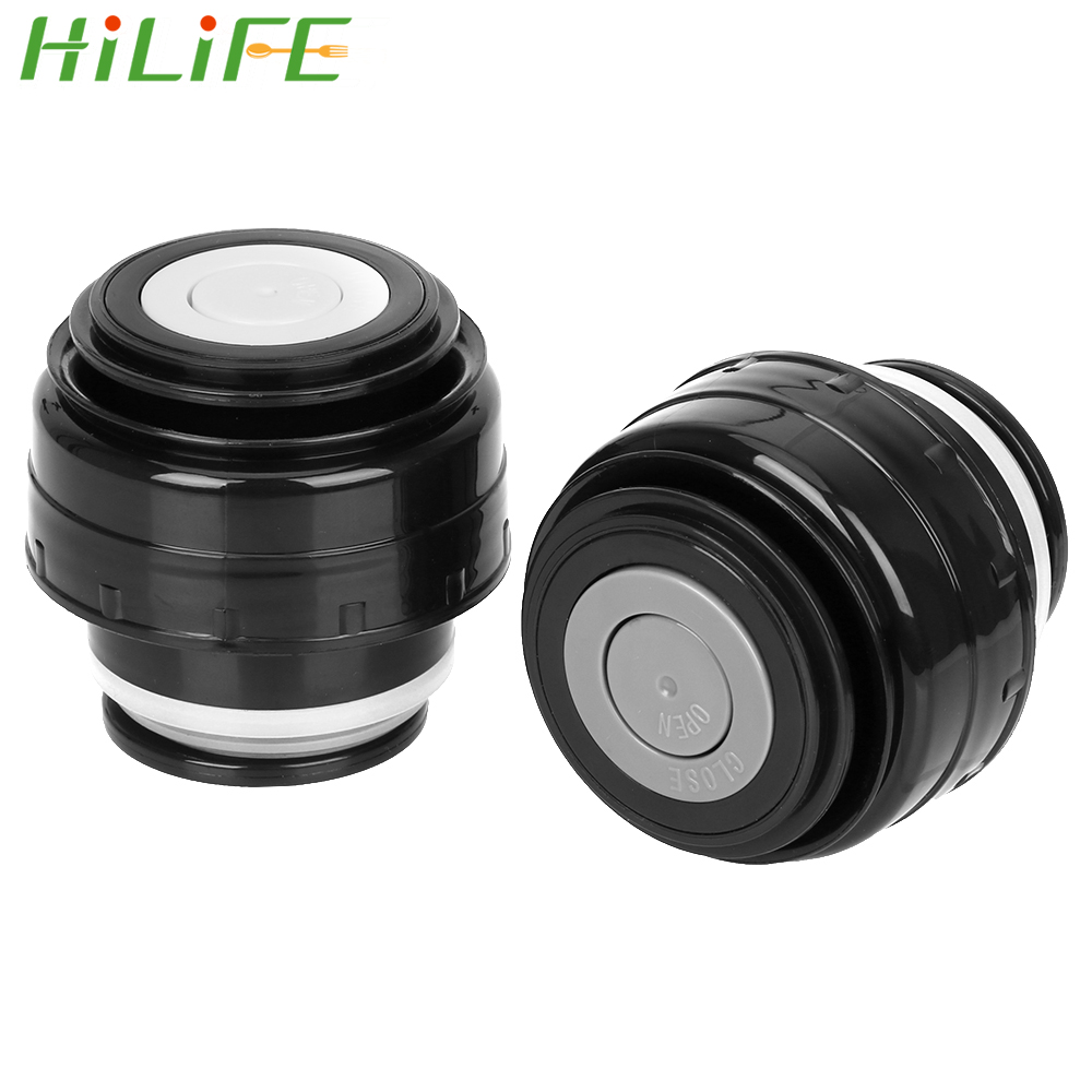 HILIFE Outdoor Travel Cup Vacuum Flask Lid Drinkware Mug Outlet Bullet Flask Cover 5.2cm Stainless Thermoses Accessories