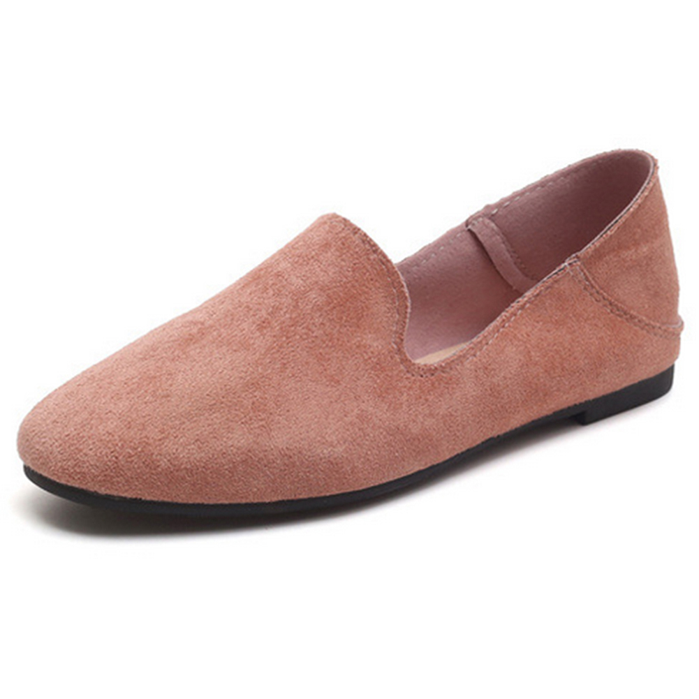 2019 Spring Autumn Women Moccasins Women's Flats Flock   leather   Shoes Woman Lady Loafers Slip On   Suede   Shoes mocasines mujer