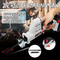 JOUST MAX 21V Cordless Reciprocating Saw Kit Portable Charging Electric Saw Blades Wood Metal Chain Saws Cut Tool with Battery