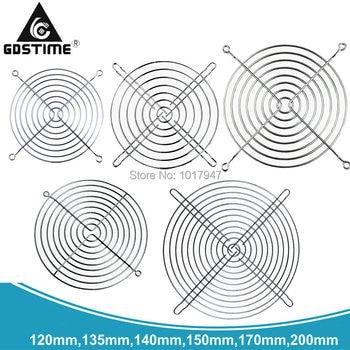 Вентилятор Gdstime для защиты пальцев, хромированный чехол для ПК, 1 шт., 20 см, 200 мм, 120 мм, 135 мм, 140 мм, 150 мм, 170 мм