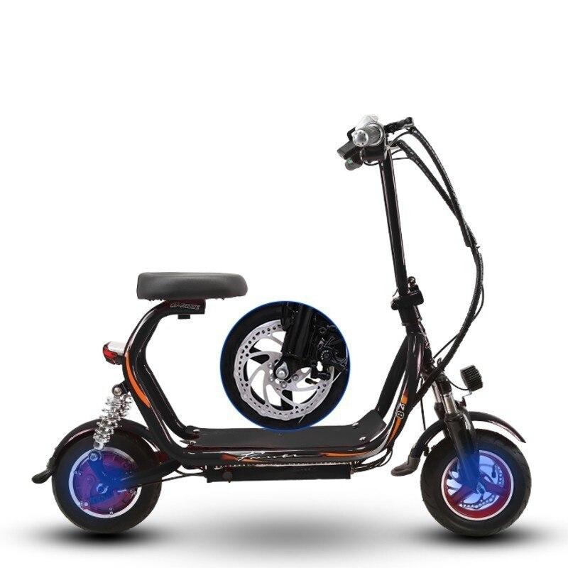 Nouveau 48 V Harley scooter électrique petit scooter large pneu moto deux places mini parent-enfant vélo électrique