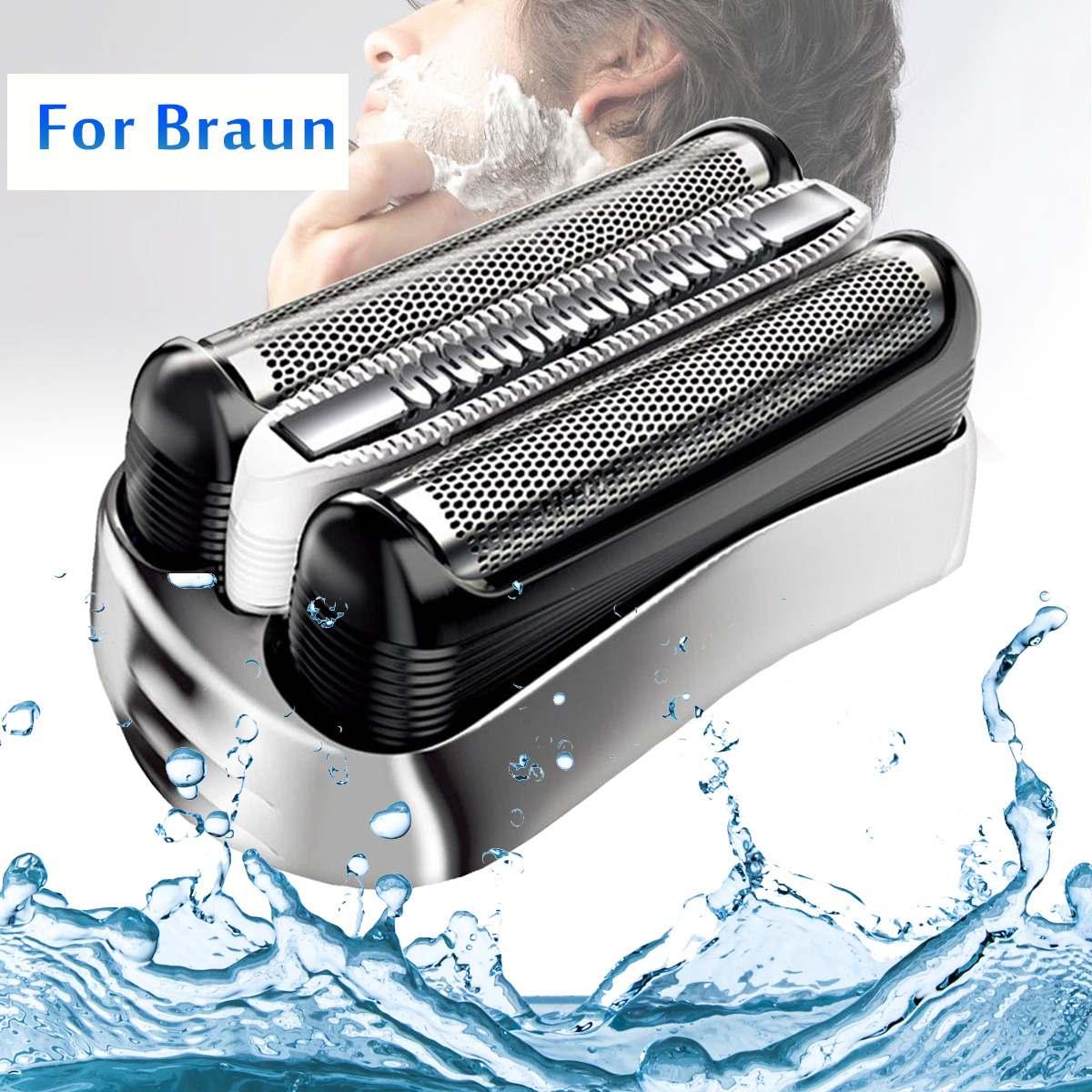 Replacement Shaver Foil Head for Braun Series 3 32S 3070 3080S 3020 350 340 320 Cruzer6 350CC 370CC Razor Male Shaver Head FoilReplacement Shaver Foil Head for Braun Series 3 32S 3070 3080S 3020 350 340 320 Cruzer6 350CC 370CC Razor Male Shaver Head Foil
