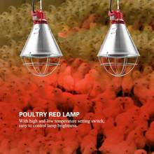 220V Infrared Red Heat Lamp Bulb with Hi-Low Temperature Setting Light for Poultry Chicks Pig Reptile Warmer Lamp EU Plug(China)