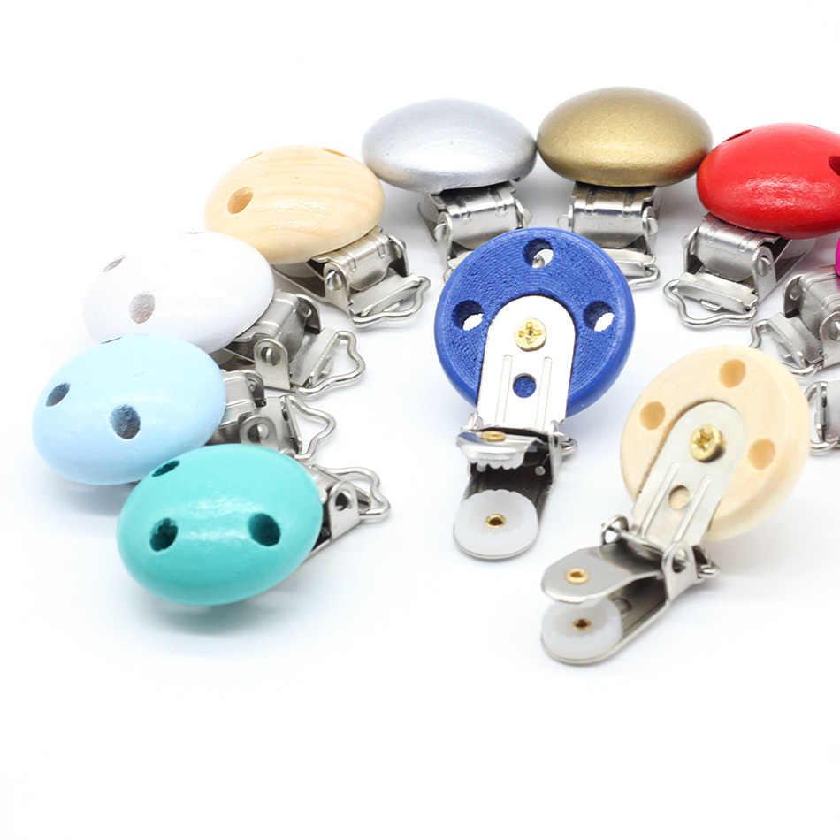Wooden Baby Children Pacifier Holder Clip Infant Cute Car Nipple Clasps 5pcs//lot