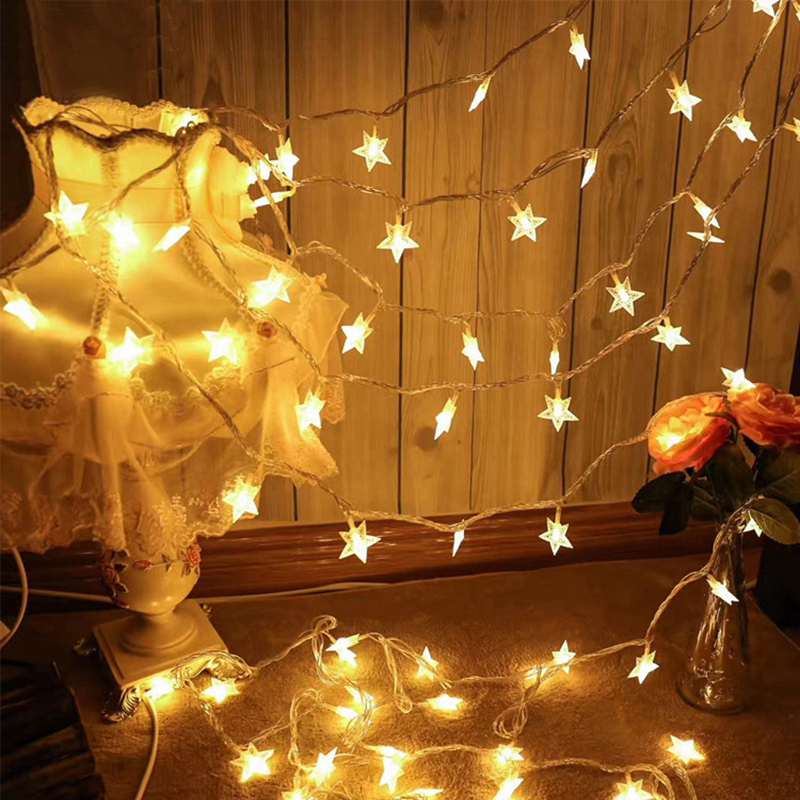 Battery Star String Light 10m Fairy Garland Curtain Light For Holiday Wedding Christmas Party Decoration Colorful Twinkle Light