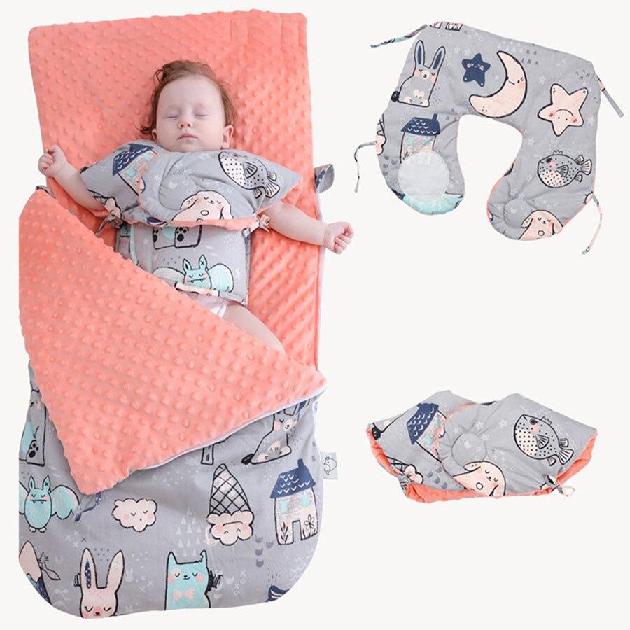 Baumwolle Herbst Winter Schlafsack Verdicken Bean Decke Anti-kick Multifunktions Baby Bett Infant Warme Schlafsack Für Kinderwagen