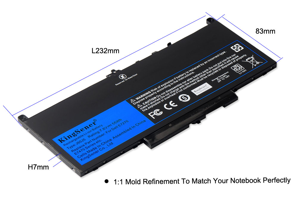 Image 4 - KingSener New J60J5 Replacement Laptop Battery For Dell Latitude E7270 E7470 J60J5 R1V85 MC34Y 242WD 7.6V 55Wh-in Laptop Batteries from Computer & Office