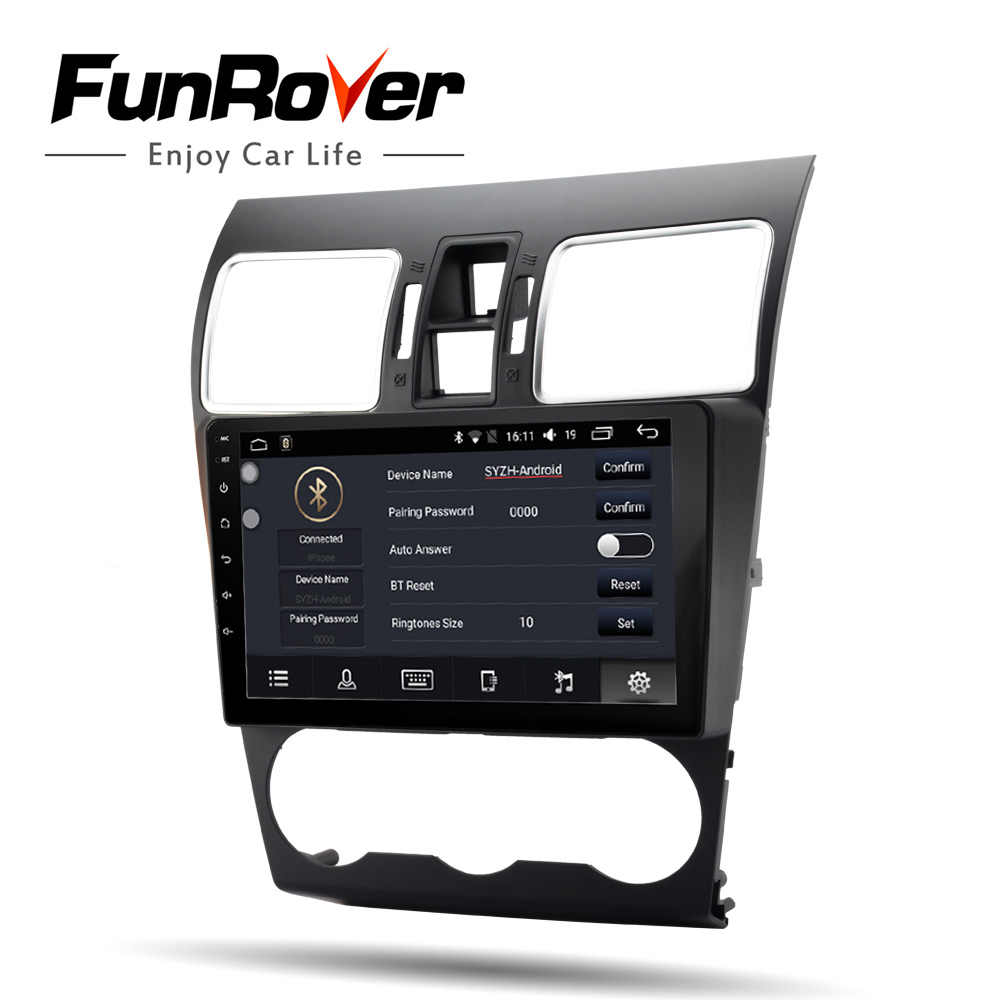 "Funrover 9 ""Android 8,0 2 din автомобиля Радио DVD Мультимедиа стерео плеер для Subaru Forester XV WRX 2012-2018 gps аудио навигации FM"