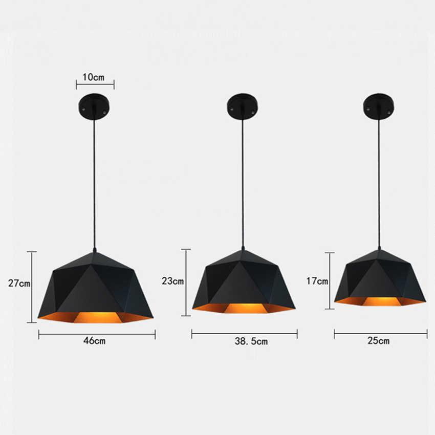 Винтажные Лофт светодиодный люстры промышленные украшения Утюг подвесной светильник светодиодный дома висит лампа Кухня светильники Luminaria