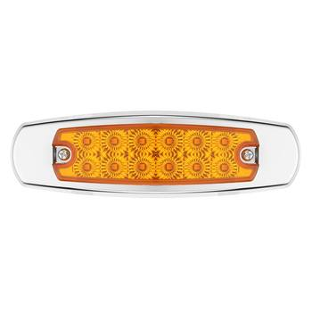 10pcs LED Side Light Clearance Yellow 12 LED Truck Trailer Lights For Peterbilt 24V 6000K
