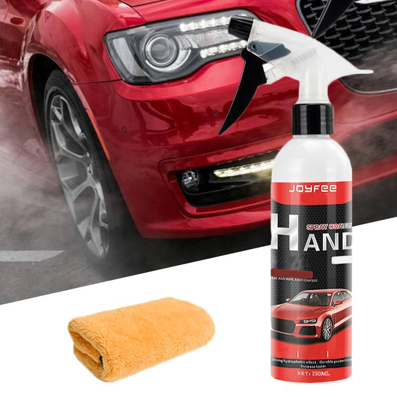 Ceramic Spray Coating Car Polish Spray Sealant Top Coat Quick Nano-Coating 250ML Car Spray Wax Car Cleaning