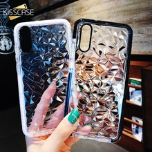 KISSCASE Luxury 3D Diamond Texture Case For Huawei P20 Lite Pro Water Light Transparent Shockproof On Honor 10 Cover