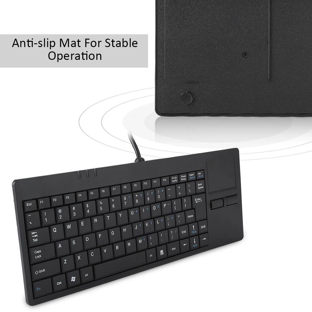 Mc-818 Wired Usb Built-in Touchpad Hub Port Keyboard 82-key Mute Ultra-thin Keyboard For Notebook/desk Wired Touch Pad Keyboard Computer & Office