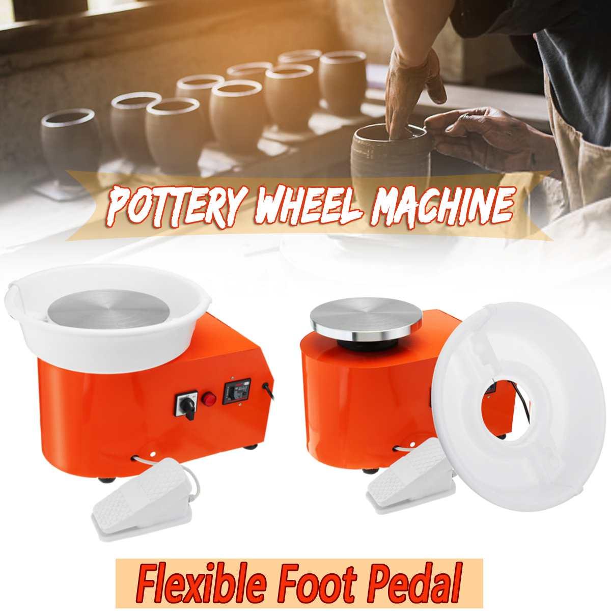 350 W Tour De Potier Machine DIY Argile Outil Travail En Céramique Céramique Argile Art Avec Flexible Pied Pédale 220 V UA plug Amovible Formant
