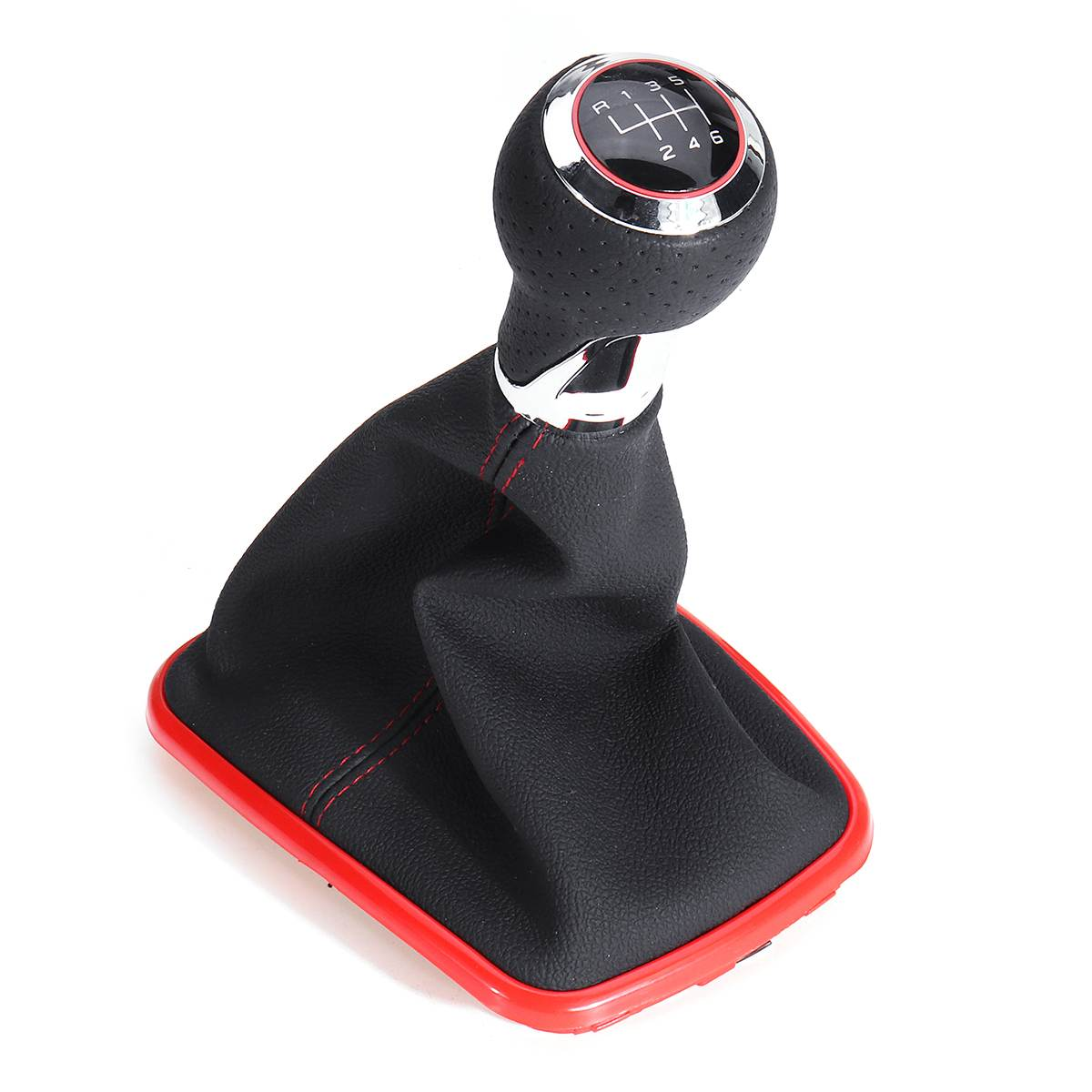 1x Car Gear Shift Knob With Boot Cover 5-speed/ 6-speed For Volkswagen Jetta Mk4 Golf/gti/r32 1999-2005 Jetta/bora 1999-2004 Can Be Repeatedly Remolded.