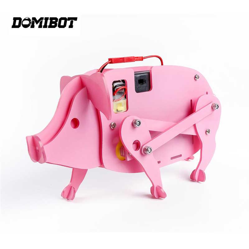 Domibot Kits Educacionais DIY Montado Porco Inteligente RC Robô de Brinquedo de Presente Para As Crianças