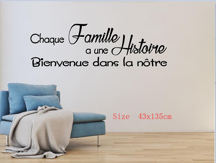 Text Wall Decal Wall Sticker Decal French Decoration Living Room Family Room  Home Decor