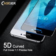 CASEIER 5D Curved Tempered Glass For Samsung Galaxy A8 A7 A6 2018 Screen Protector For Samsung A3 A5 2017 Protective Glass Film