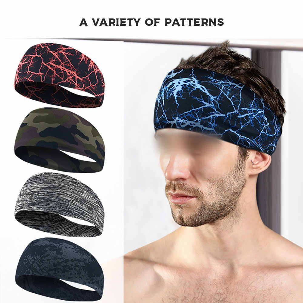 Yoga Sport Sweat Headband Absorbent Cycling yoga accessories Men Sweatband For Men and Women Hair Bands Head Sweat Bands Sports