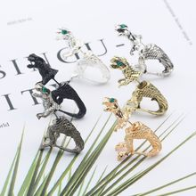 2019 Punk Hip Hop Dinosaur Stud Earring Stereo Animal Earring Vintage Retro Gothic Korean Tassel Resin For Women Dropshipping(China)