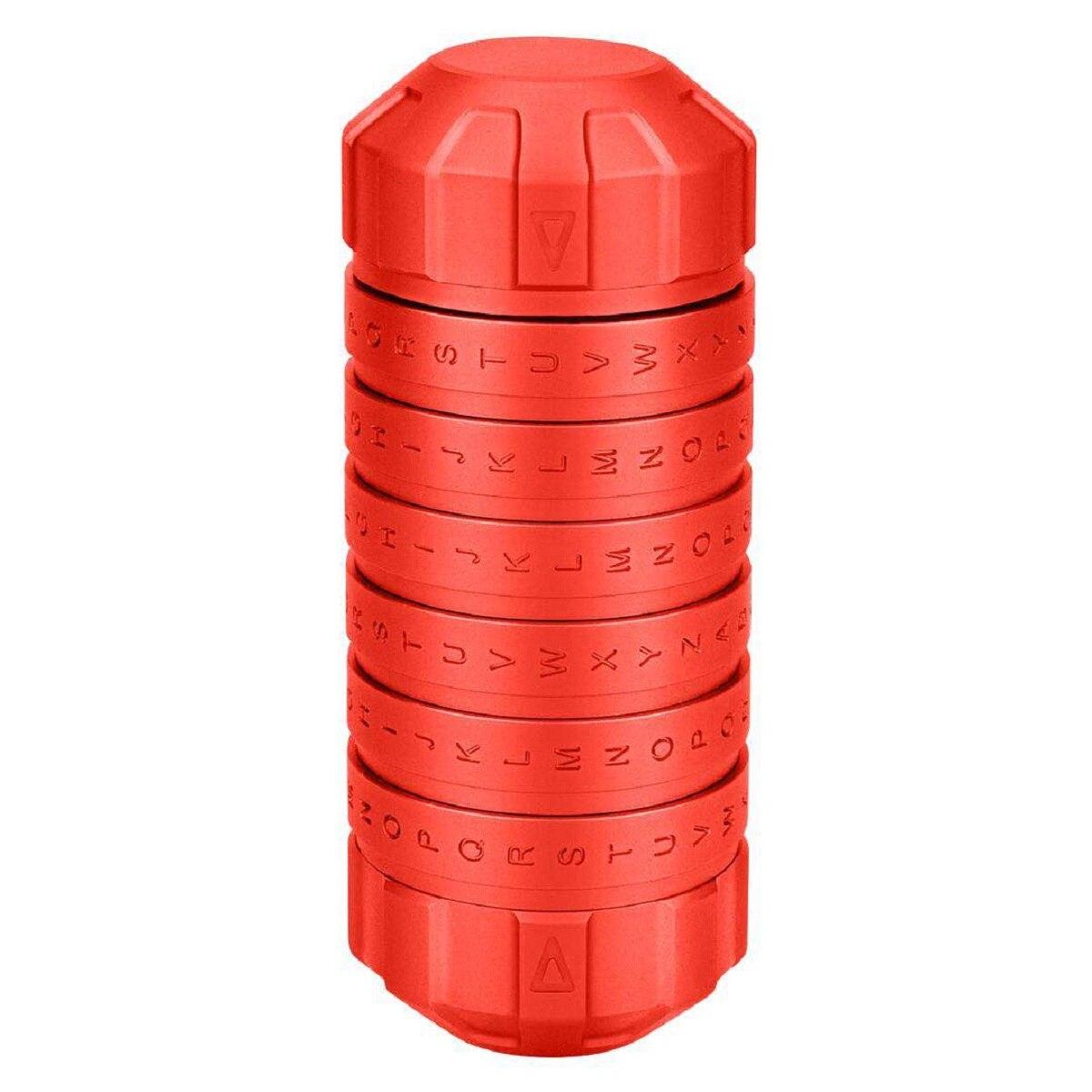 Mode nouveau Style jouets éducatifs en métal Cryptex serrures idées cadeaux Da Vinci Code serrure pour épouser les accessoires de chambre d'évasion amoureux - 4