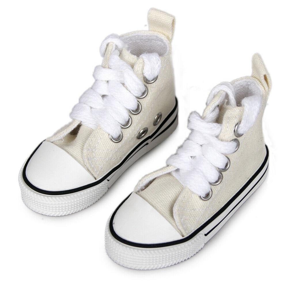 PF For 1//4 MSD DZ AOD BJD Dollfie  Black Mid-Cut Canvas Shoes Sneaker 6CM
