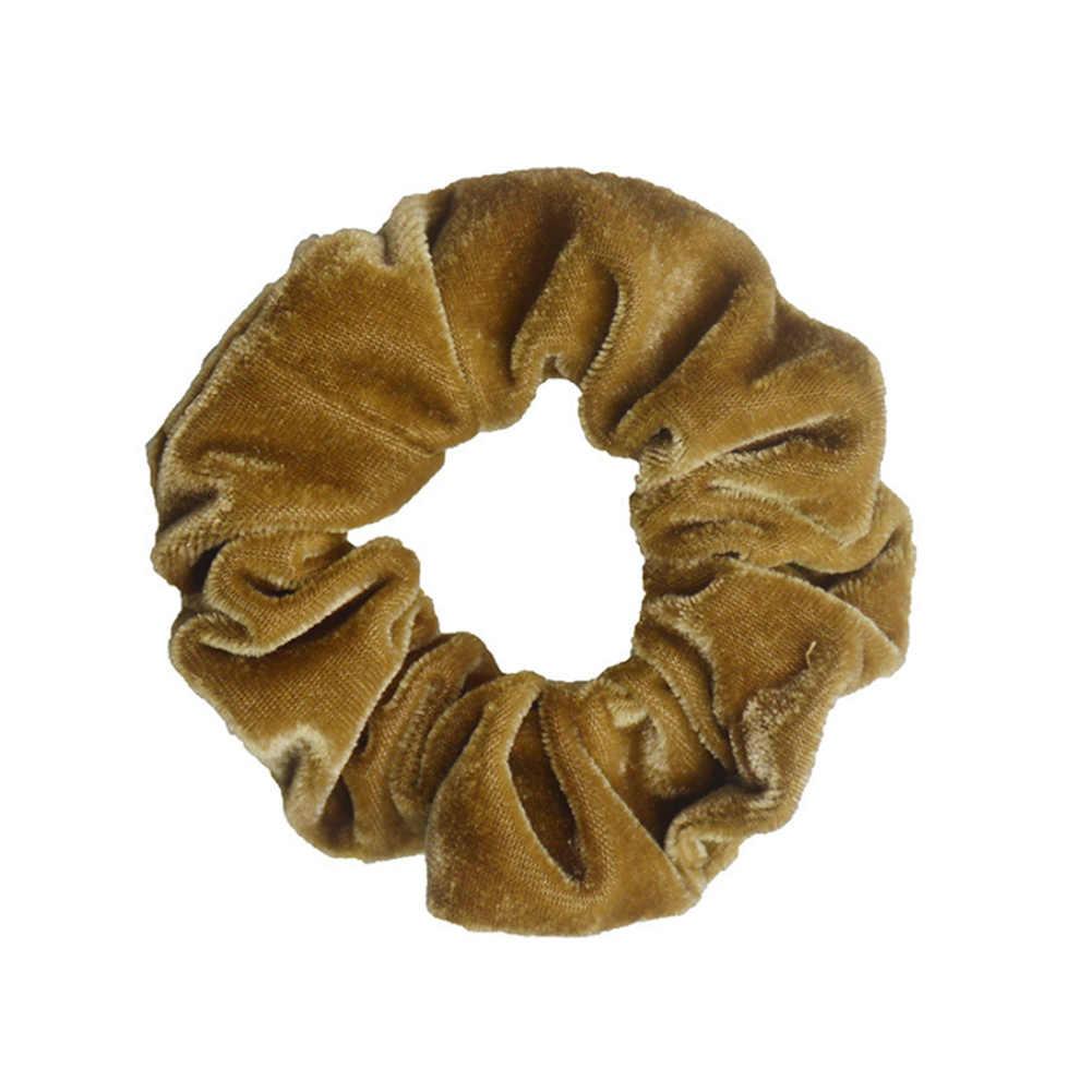 Moda luksusowe miękki aksamit Scrunchies kucyk Donut Grip Loop Holder rozciągliwy pasma włosów dla kobiet dziewczyn akcesoria do włosów