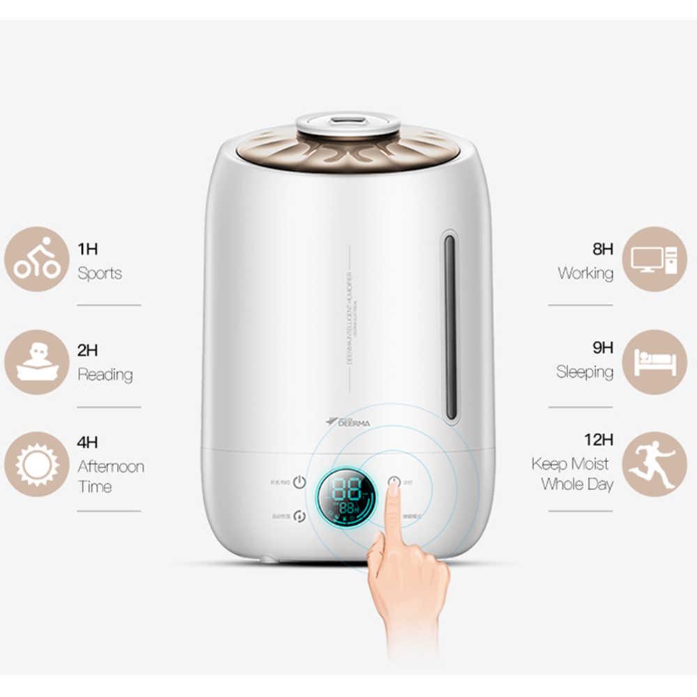 Xiaomi Deerma увлажнитель воздуха ультразвуковой туман 5l тихий ароматический увлажнитель воздуха светодиодный сенсорный экран функция времени дома водный диффузор