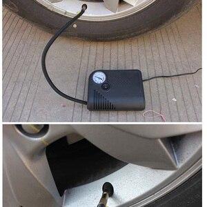 Image 2 - Portable 12V DC voiture pneu gonfleur Mini électrique compresseur dair pompe noir ABS pour voiture moto RV SUV ATV