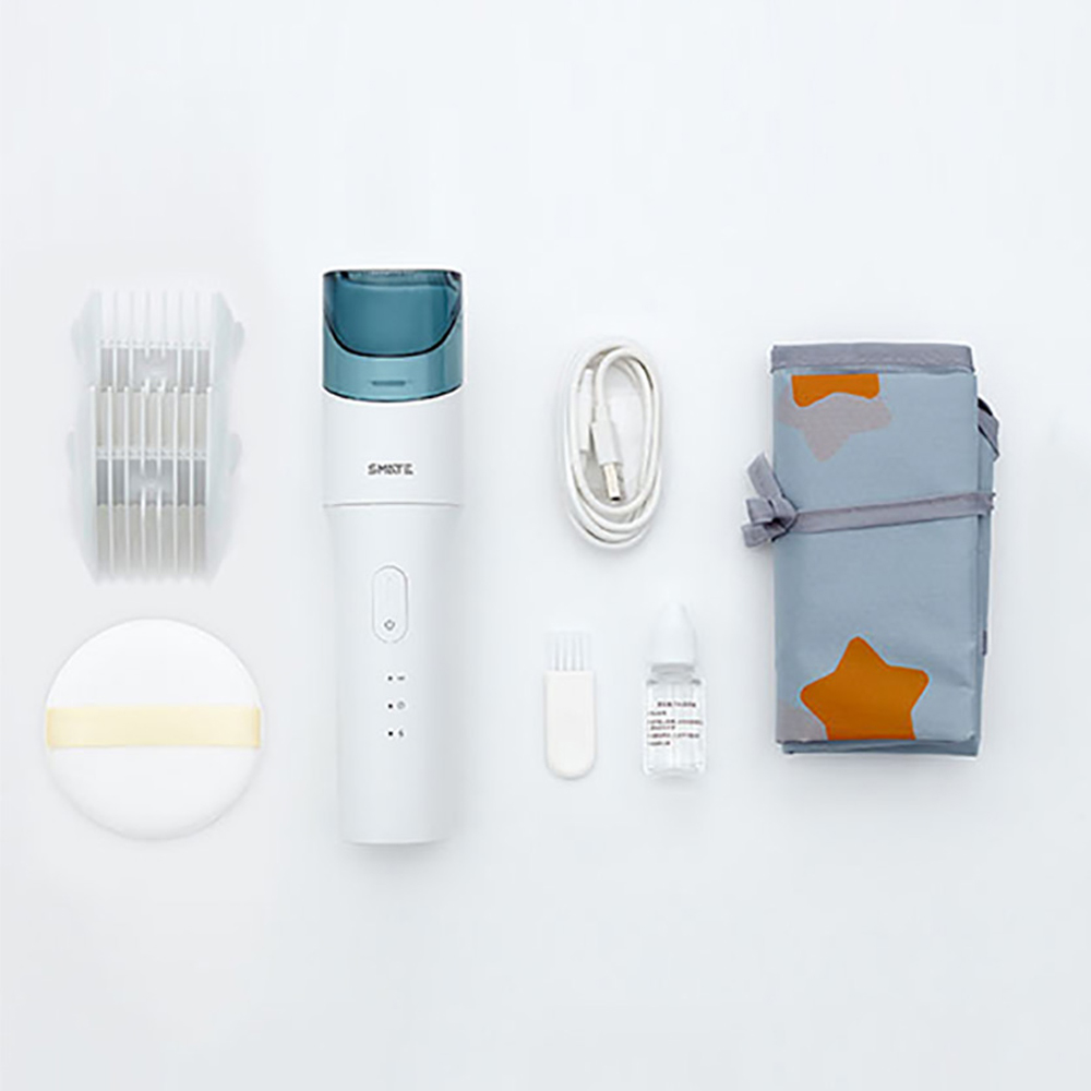 Xiaomi SMATE USB bébé imperméable coupe de cheveux tondeuse électrique Rechargeable enfants Ultra-silencieux automatique tondeuse à cheveux - 6