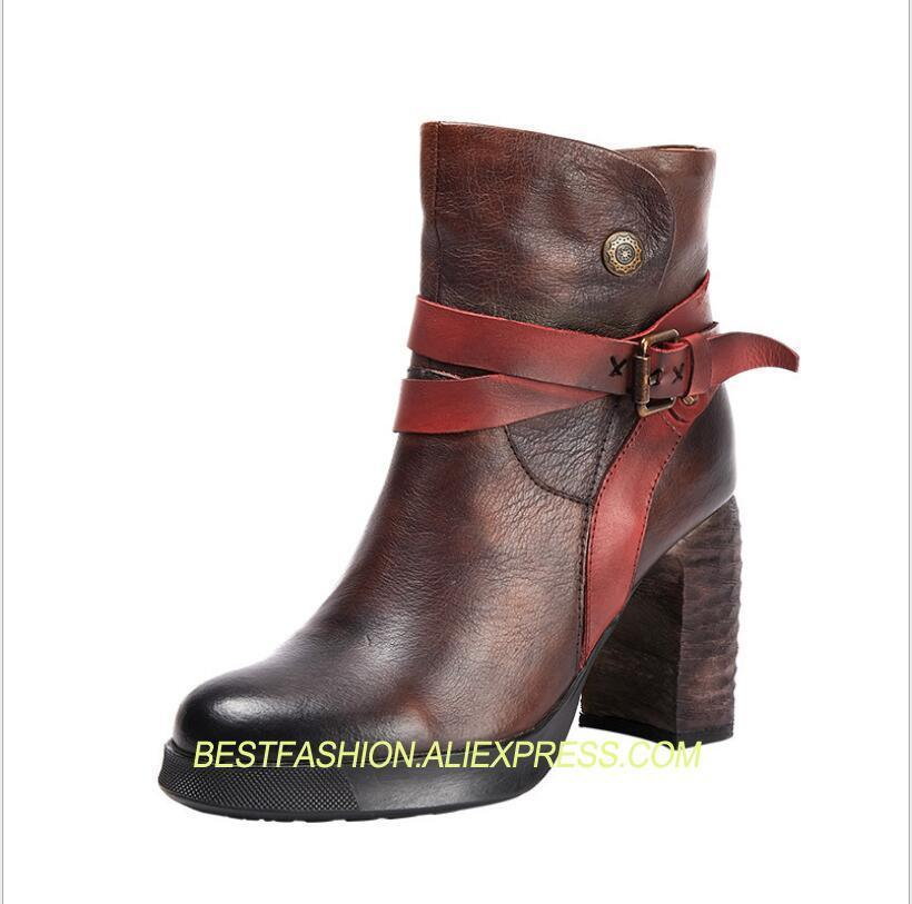 autumn and winter ladies first layer cowhide leather womens boots woman shoes boots high heelsautumn and winter ladies first layer cowhide leather womens boots woman shoes boots high heels