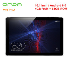 Onda V10 PRO Tablet PC 10.1'' Android 6.0 MTK8173 Quad Core 2.0GHz 4GB 64GB Dual Camera 2.4G/5GHz Dual Band WiFi 8MP GPS Tablets