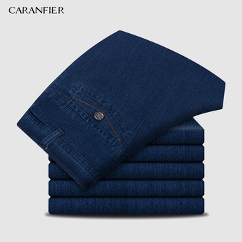 CARANFIER Mens Jeans Designer High Quality Classic Denim Pants Summer Baggy 2019 New Stretch Jeans Men Fashion Elasticity Jeans