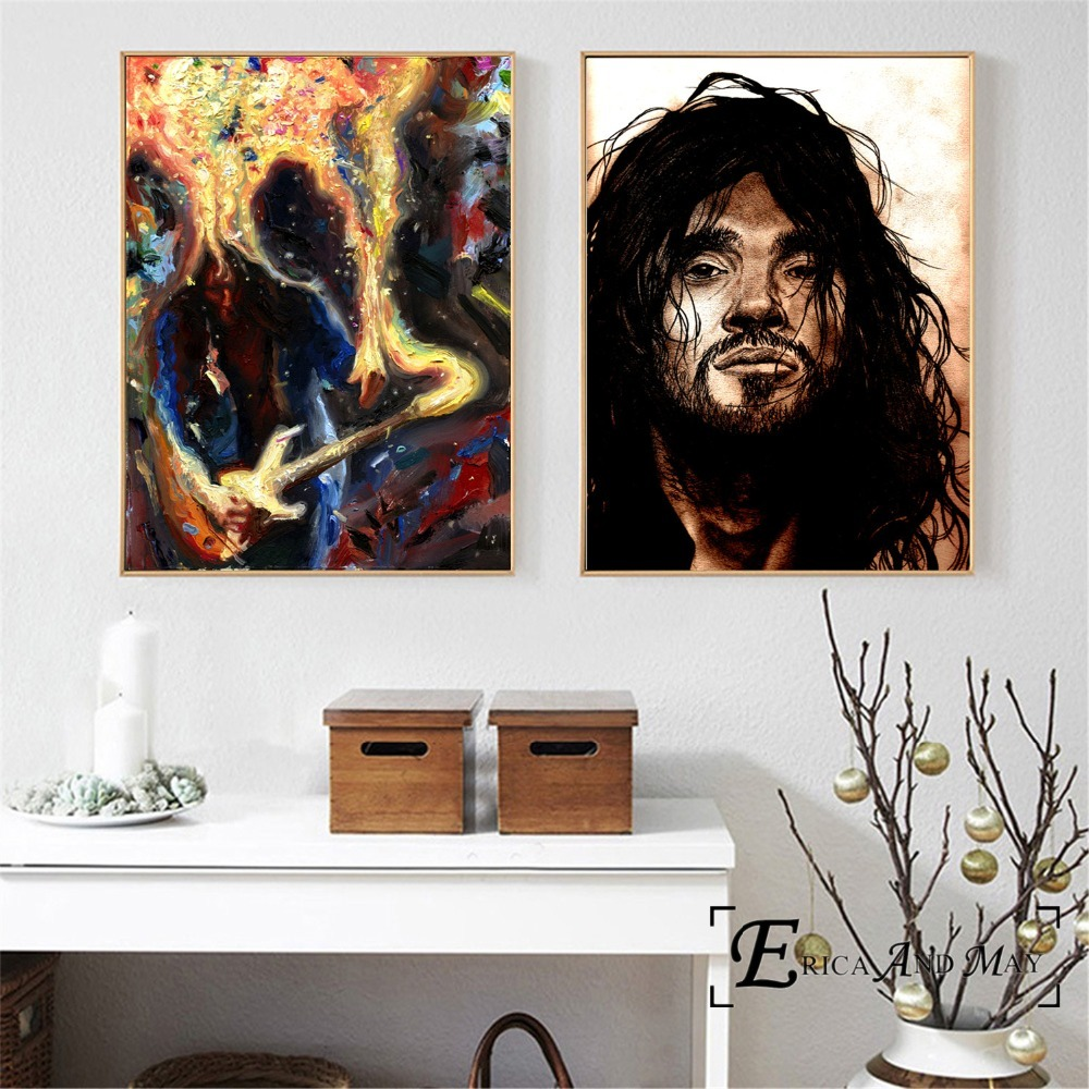 John Frusciante Abstract Portrait Canvas Printed Painting Wall Pictures Home Decor Posters And Prints Art For Bedroom Decoration