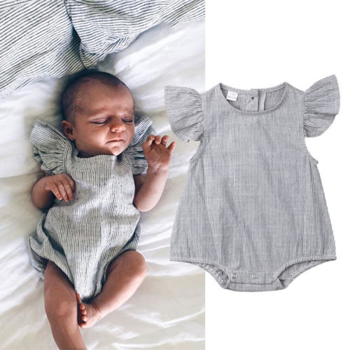 Toddler   Romper   Newborn Infant Baby Girls Cotton Striped   Romper   Jumpsuit Baby Summer Playsuit One-Pieces Outfit Clothes
