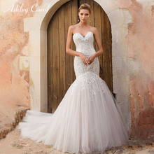 Ashley Carol Sexy Mermaid Wedding Dress 2019 Court Train