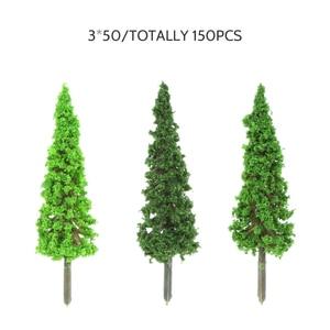 Image 2 - 150 個hoスケールのプラスチックミニチュアモデルの木を構築するための列車鉄道レイアウト風景風景のアクセサリーのおもちゃ子供