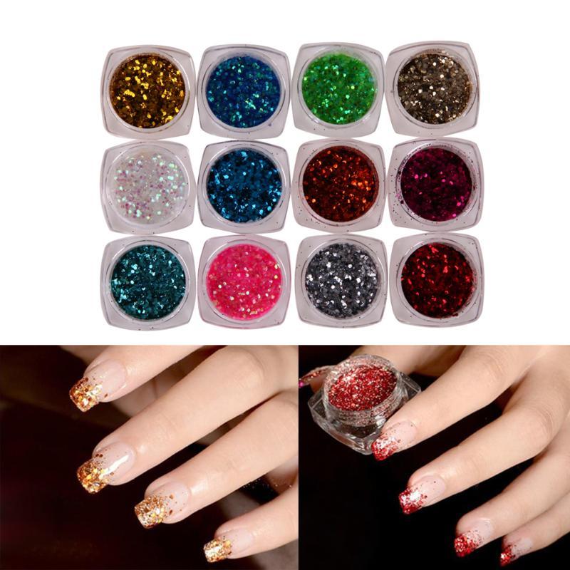 Acrylic Nail Powder Holographic: Aliexpress.com : Buy 12 Colors Set Polishing For Nails