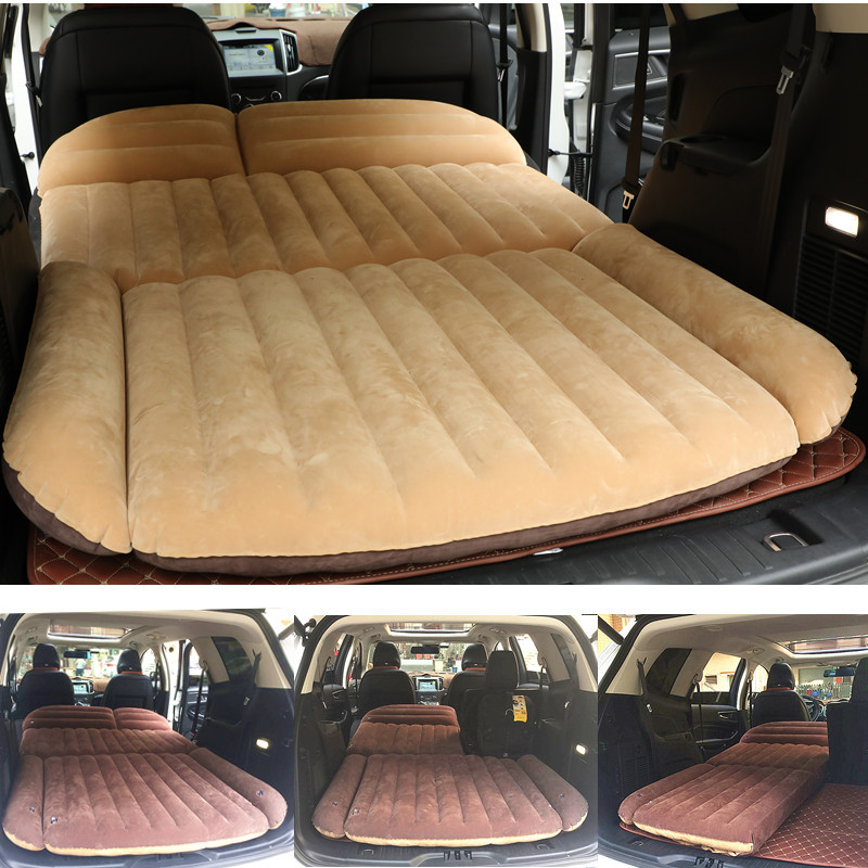 190 119 12 5CM Camping Car Bed SUV Inflatable Car Mattress For Auto Mattress Flocking Portable