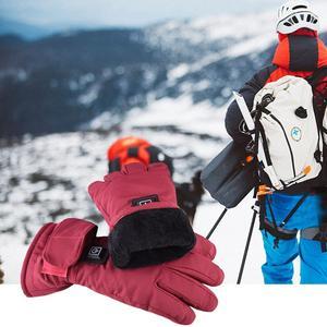 Image 2 - Einstellbare Temperatur Thermische Handschuhe Batterie Powered Wiederaufladbare Beheizte Handschuhe Wasserdichte Touch Screen Handschuhe Wärmer Für Frauen
