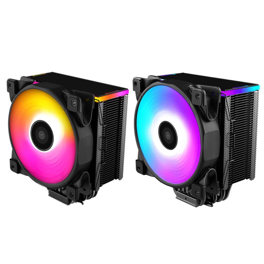 Coloré LED Contrôle De Température Intelligent ventilateur cpu Refroidisseur Radiateur Radiateur Pour Ordinateur ordinateur de bureau