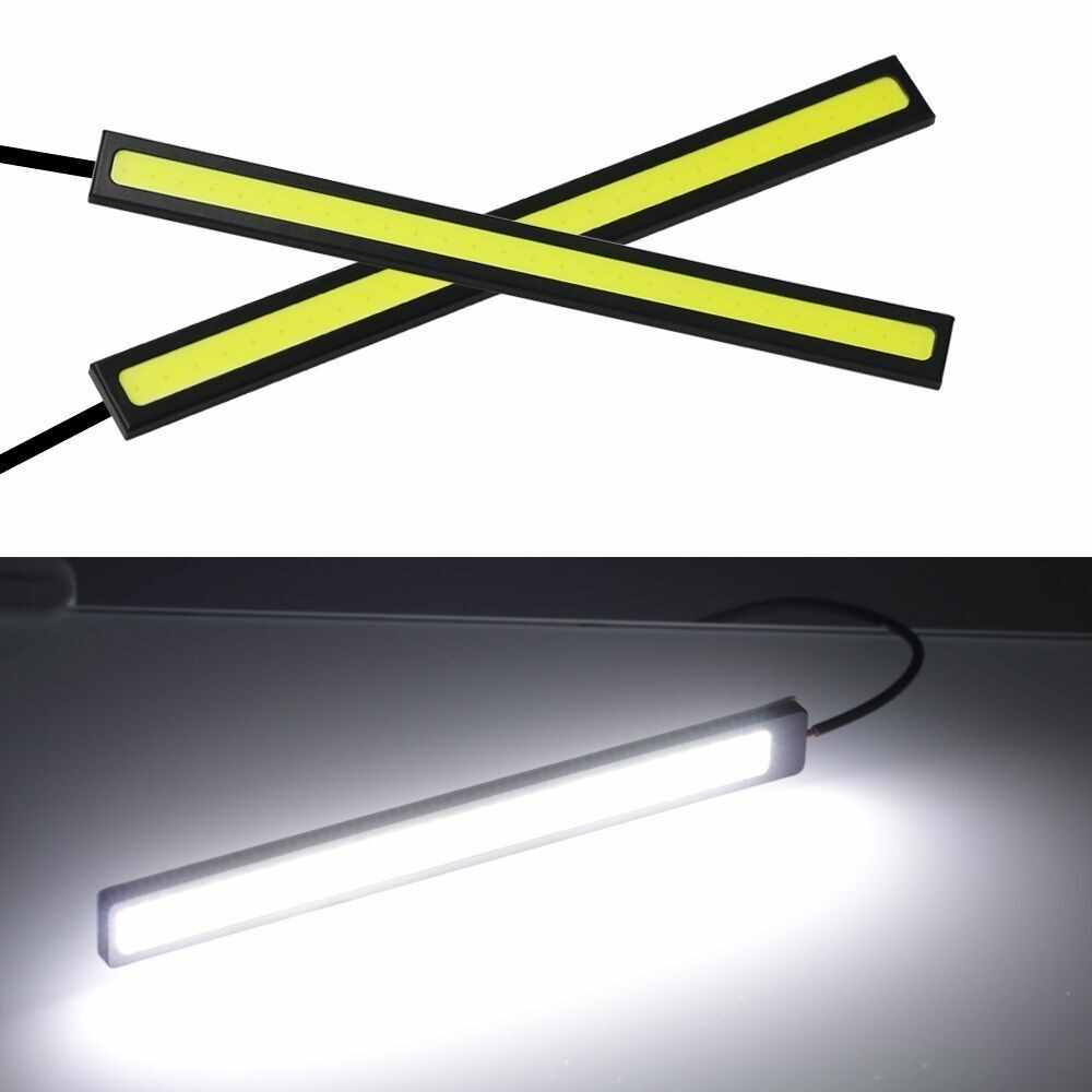2 Pcs 17CM COB DRL LED Daytime Running Light Auto Lamp External Lights For Universal Car Waterproof Day Light Bars Fog Driving