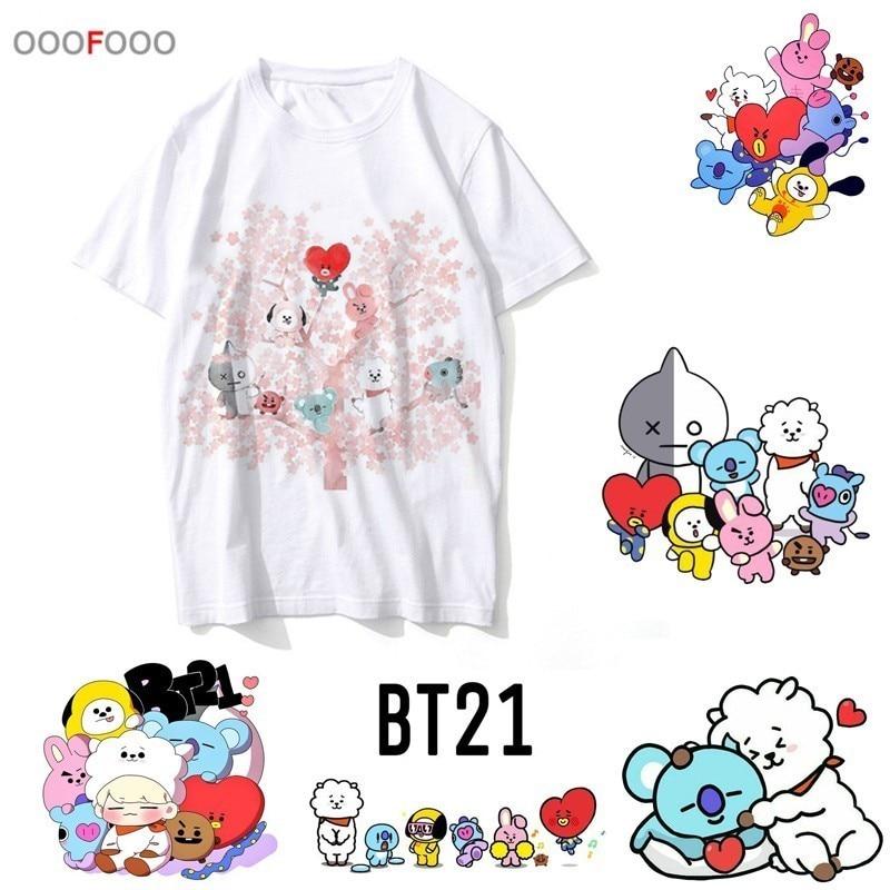 389cec51 bt21 t shirt funny hop men streetwear clothing male t-shirt tshirt harajuku  for hip