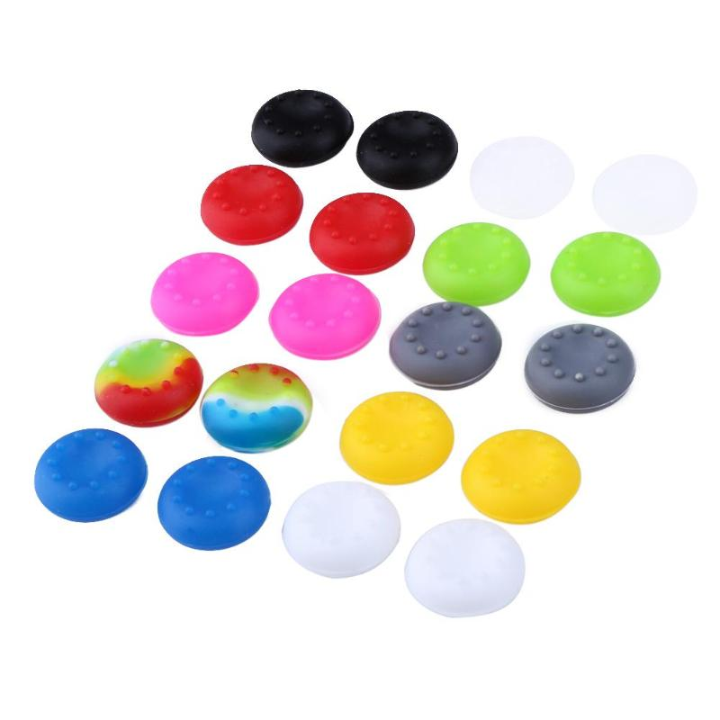 20pcs 20 X 20mm Rubber Silicone Cap Thumb Stick Grips Cover For PS4 PS3 PS2 For XBOX 360 ONE Thumbsticks Caps 10 Colors(China)