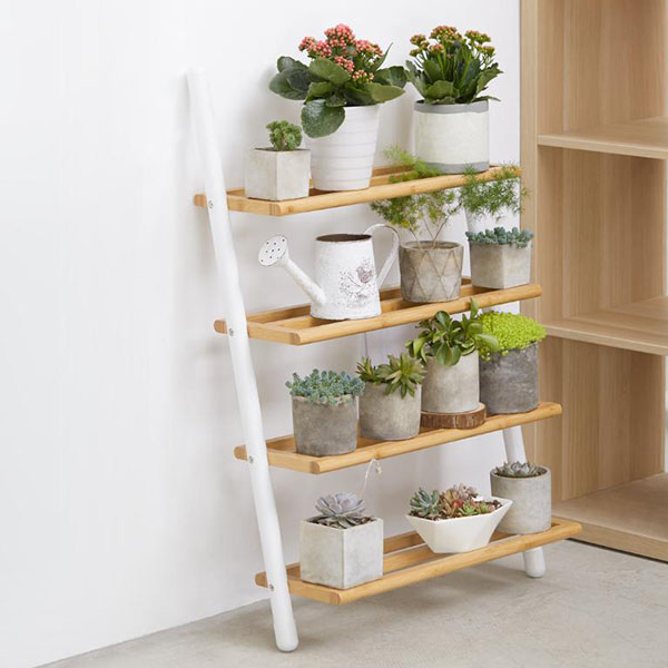 Wooden Wall Shelf Four Layers Multi-Functional Storage Folding Rack Plant Shelf Home Organization Shoe Shelf ON SALE