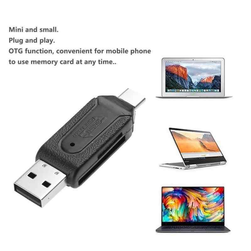 عالية السرعة 480Mbps وتغ USB2.0 Type-C USB 3.1 قارئ بطاقات الذاكرة ل SD TF مايكرو SD بطاقة الهاتف المحمول