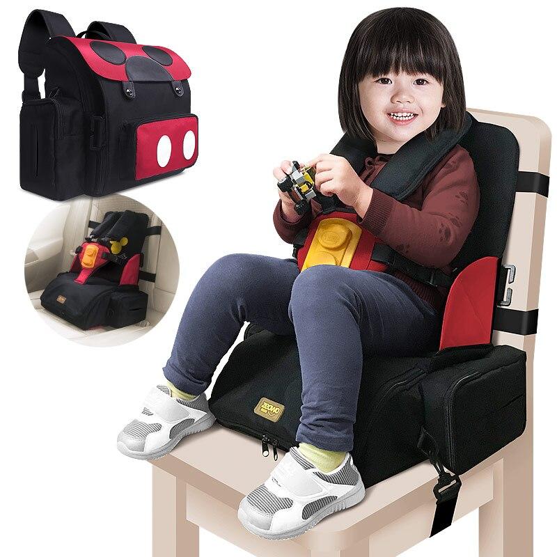 Многофункциональный водонепроницаемый детский ремень безопасности 3 в 1, детское сиденье для кормления, 5-точечный ремень безопасности, портативный ремень безопасности, обеденный высокий стул 2